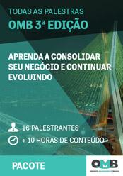 Todas as palestras OMB 3ª edição: aprenda marketing e gestão para clínicas e consultórios